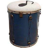 Preisvergleich für Kinderzimmer Hocker Music mit Staufach Metall Vintage-Look Musik Shabby Sitzhocker Aufbewahrungsbox Kinderhocker Drum
