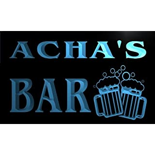 w060391-b ACHA Name Home Bar Pub Beer Mugs Cheers Neon Light Sign