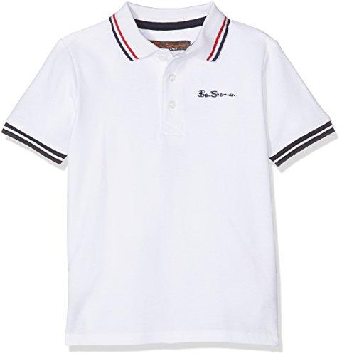 Ben Sherman Core Pique, Polo Bambino, White (Bright White), 3-4 Anni