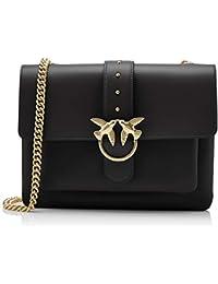 b9f36b72e6c9f Pinko Women s Big Love Simply 1 Tracolla Vitello Seta+borchiette Shoulder  Bag