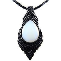 Halskette Opalit Makramee Thailand Tribal Surfer Boho Mondstein Halsband