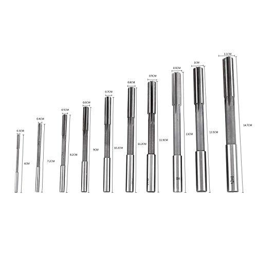 HSS Reibahlen H8 Zylinderschaft Maschine Stahl High Speed 3/4/5/6/7/8/9/10/11/12mm 4 Flöten Werkzeuge Fräser Handwerker