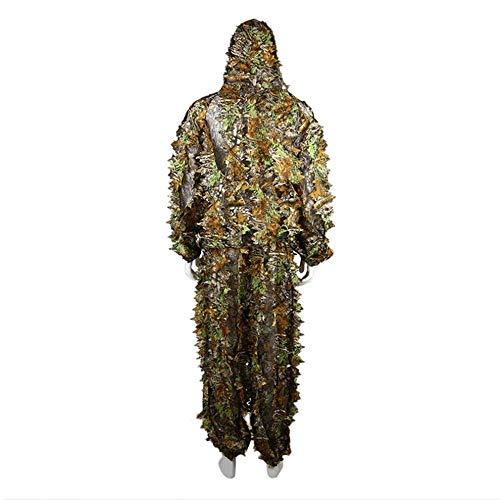 2Jagd Kleidung Blätter Camouflage Ghillie Suit Herren Frauen Woodland Anzug (Jagd-ghillie-anzüge)