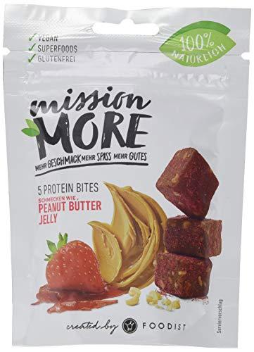 Mission More Peanut Butter Jelly Protein Bites, Superfruits, 100% natürlich und vegan, 5er Pack (5 x 55 g)