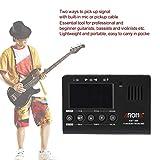 Lorenlli Fit Aroma AMT-560 3 en 1 generador de tono de metrónomo con sintonizador eléctrico con función de captación para guitarra ukelele violín bajo cromático