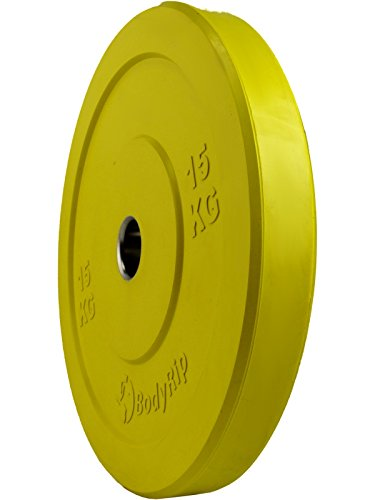 BodyRip-Competition-IWF-Bumper-Weight-Plates-2-Olympic-5kg-25kg-Colour-Coded-15-Kilograms