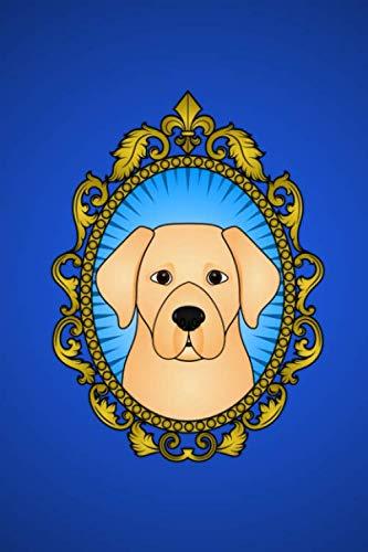 Journal: Blue labrador retriever victorian frame notebook -