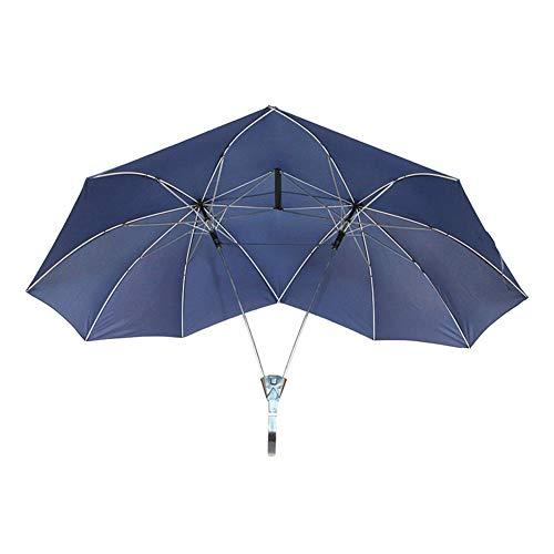 lā Vestmon Doppelschirm Zwei Person Regenschirm Paar Regenschirm Doppelgröße Hohe Regenschirm Doppel Top Doppelpol Regenschirm Kreative Regenschirm für Familienliebhaber