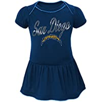 "San Diego Chargers NFL ""Dazzled"" Infant Girls Bodysuit Dress"