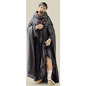St Saint Peregrine Statue Patron de protection contre le cancer Christian 15,2cm peint à la main