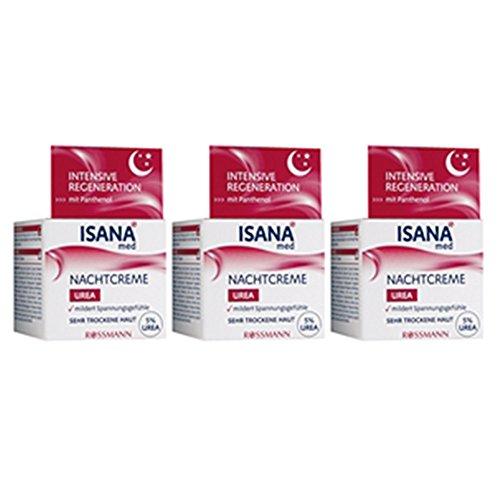 ISANA med Nachtcreme Urea 50 ml, 3er Pack(3x50 ml)