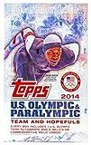 2014Topps tarjetas de comercio de Equipo de Estados Unidos Juegos Olímpicos de invierno y aspirantes Hobby Box–24paquetes/8tarjetas