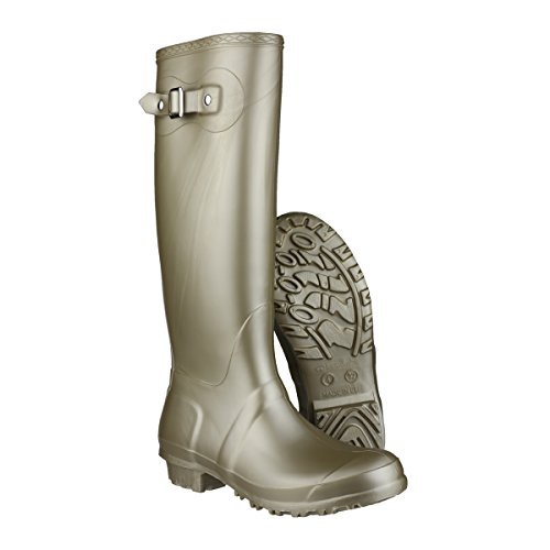 Cotswold Ladies Sandringham Buckled Welly Wellington Boot Gold gold