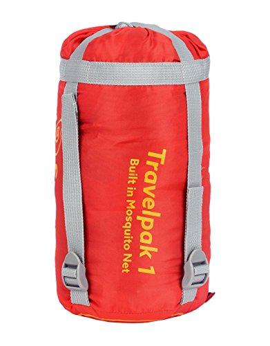 41VJy9qz0cL - Snugpak | Travelpak 1 | Outdoor Sleeping Bag | Built in Mosquito Net | Antibacterial