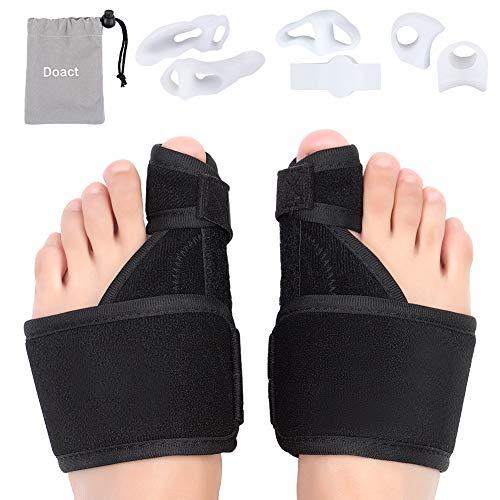 Corrector de juanetes, kit de noche y día, separadores para dedos de los dedos de los pies grandes para Hallux Valgus,envoltura de los dedos de los pies, aliviar el dolor en zapatos, 6 unidades