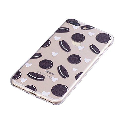 Coque iPhone 8 Plus, iPhone 7 Plus Case, Voguecase [Ultra Fin] [Anti Choc] [Anti Rayures] Premium TPU Silicone, Exact Fit / Léger / Souple Housse Etui Coque Pour Apple iPhone 7 Plus/iPhone 8 Plus 5.5  Biscuits