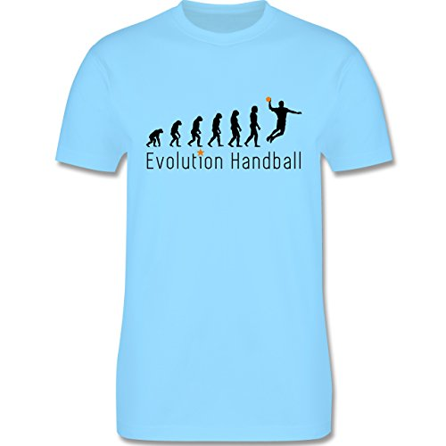 Evolution - Handball Evolution Sprungwurf - Herren Premium T-Shirt Hellblau