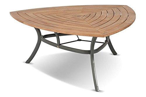 Hartman Triangular Esstisch, xerix aus Aluminium & FSC-Teak, 170x170x170cm, Gartentisch, Gartenmöbel Tisch modern
