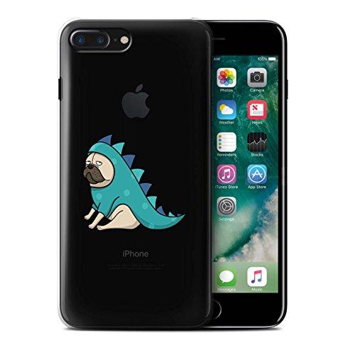 Coque de Stuff4 / Coque pour Apple iPhone 7 Plus / Griffonnage/Modèle Design / Carlin/Chien Mignonne Collection Dinosaure Tenue