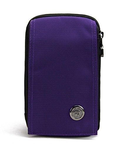 kiss-gold-wasserabweisende-hufttasche-handytasche-mit-karabiner-zwei-reissverschluss-taschen-fur-spo