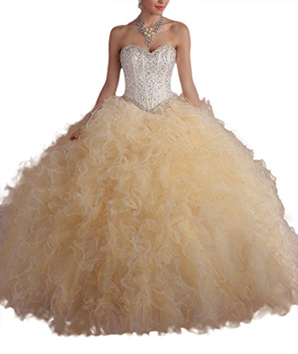 Bridal_Mall - Robe - ball gown - Femme - lightgold