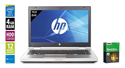 HP Elitebook 8460p | Notebook | Laptop | 14,0 Zoll (1366x768) | Intel Core i5-2410M @ 2,3 GHz | 4GB DDR3 RAM | 320GB HDD | DVD-Brenner | Windows 10 Home (Zertifiziert und Generalüberholt) 320 Gb Hdd-dvd