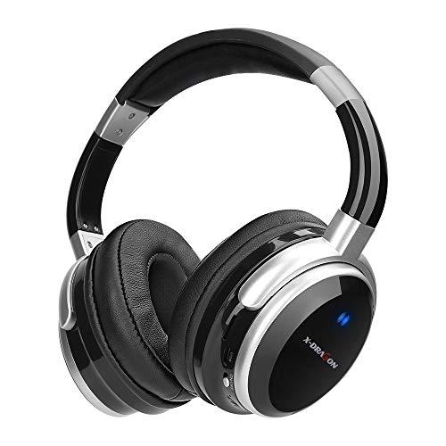 X-DRAGON Bluetooth Kopfhörer Kabellos Sport On-Ear Headset CVC 6.0 Noise Cancelling Wired und Wireless Kopfhörer mit Sattem Bass, Mikrofon für iPhone, Fernseher, PC, Samsung, Android, Huawei