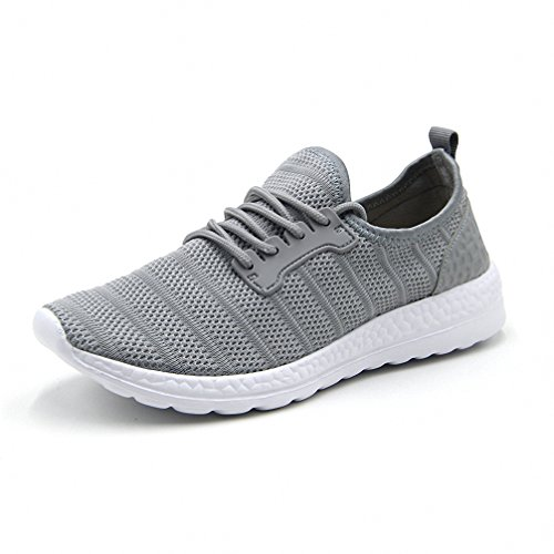 Mens Womens Outdoor Sports Running Shoes Fashion Mesh Sneakers Gray 36-47
