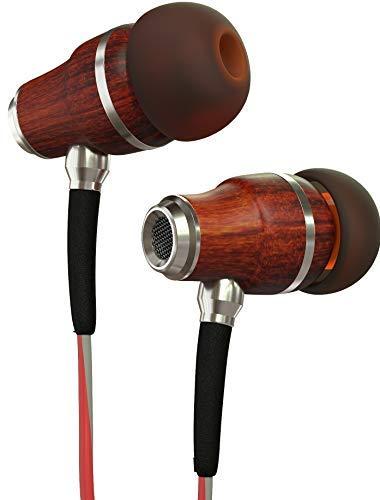 Symphonized NRG 3.0 Auriculares de Mader, con Aislamiento de Ruido, con micrófono y Control de Volumen (Rojo y Gris Brumoso)