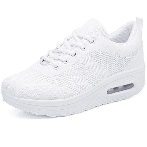 Solshine Damen Chic Plateau Schnürer Sneakers Walkmaxx Schuhe Shape-up Fitnessschuhe