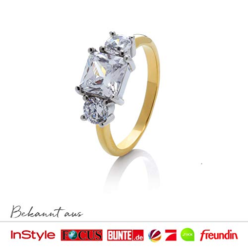 prettique Ring Meghan - Sterlingsilber/Vergoldet: ab 29,95 € mit dem Code