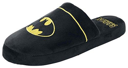 Batman Schuhe Herren (Batman Logo Hausschuhe schwarz one)