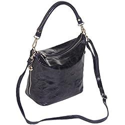 """BERNSTYN Damen Handtasche """"Lady Jolie"""" Echtes Rindleder Henkeltasche Schultertasche Umhängetasche"""