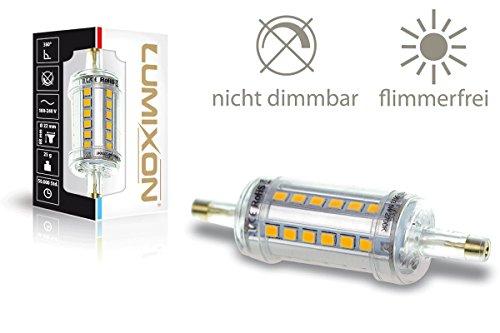 LUMIXON LED R7S 78mm 500 Lumen - 2700K Warmweiß - 360° Leucht Winkel - Acryl Gehäuse IP44