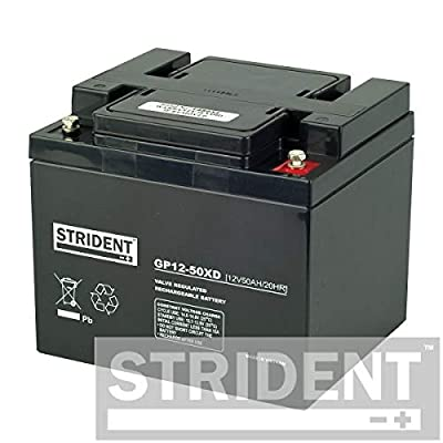 Pair of Strident 50ah 12V Batteries Suitable for Rascal Ventura, Rascal 850, Rascal Vecta Sport, Pride Colt Pursuit, Vanos DX8 Plus Many More Mobility Scooters