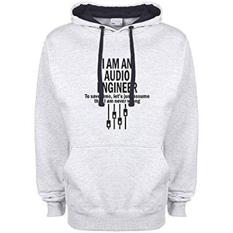 I Am Audio Engineer Fun Logo Qualità Superiore Felpa con Cappuccio Unisex