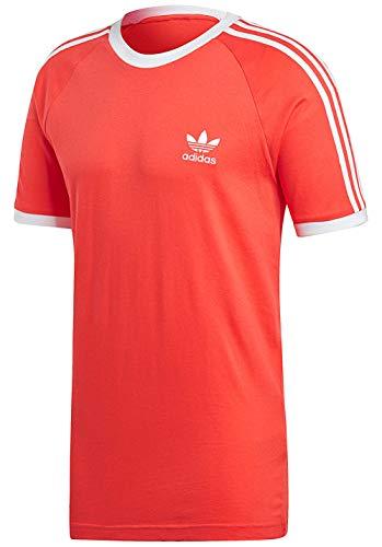 Adidas 3-stripes tee–maglietta, uomo, rosso (rojbri)