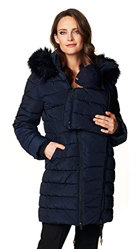 Noppies Damen Umstands Jacke Jacket Anna (3XL, Navy)