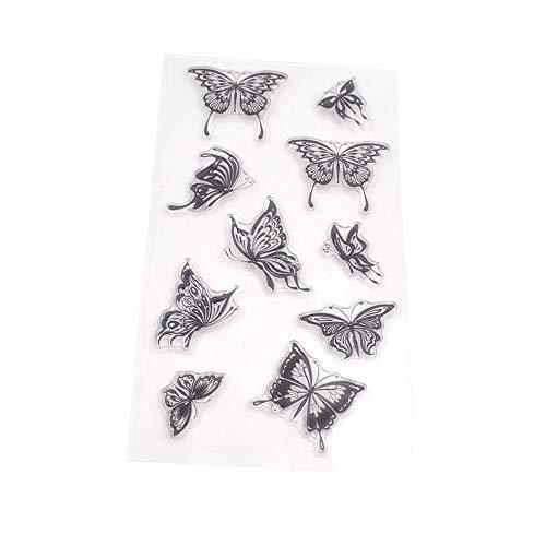 forviupet Dekorationssiegelpapier Libelle Marienkäfer Schmetterling und Biene transparent Gummi Stempel Basteln Scrapbooking