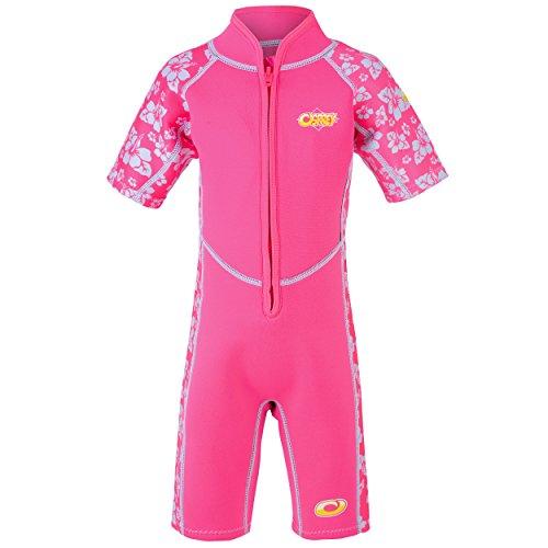 Osprey Neoprenanzug für Kleinkinder, 3 mm stark, Lichtschutzfaktor 50 erhältlich, Unisex - Baby, WS0619, Habiscus - Pink, Alter 2