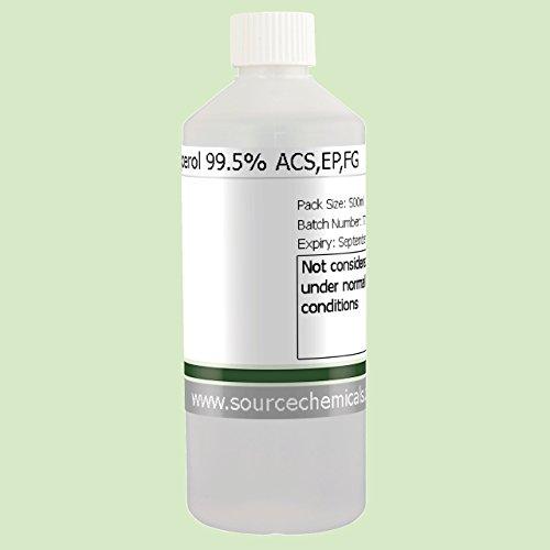 Glycerol (Glycerine) Vegetable Kosher Food / Pharma Grade 500ml Including Delivery