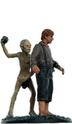 Lord of the Rings Señor de los Anillos Figurine Collection Nº 141 Sam and Gollum 1