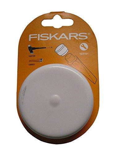Original Fiskars Ersatz-Aufsatz mit Metallring für Dreh-Spaltkeil SAFE-T und Spalthammer SAFE-T X39, Weiß/Silber, 1001616