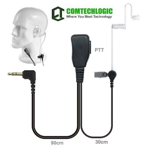 comtechlogic cm-30pt Hands-Free Sicherheit Bodyguard Covert Schallschlauch Headset mit PTT für Motorola Zwei Wege Radios (Zwei-wege-radio-headset)