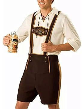 LanLan Männer Oktoberfest Kleidung Set Tops + Hosenträger Hosen