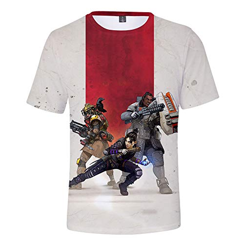 Ápex Legends Cuello Redondo Ocasionales Flojo Hombres y Mujeres Color Sólido Estampado Tshirt
