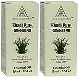 Khadi Pure Herbal Citronella Essential Oil - 15ml (Set of 2)