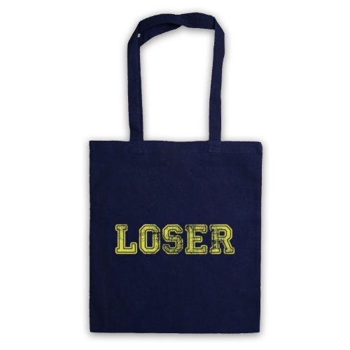 Loser Funny Slogan Tote Bag Blu navy