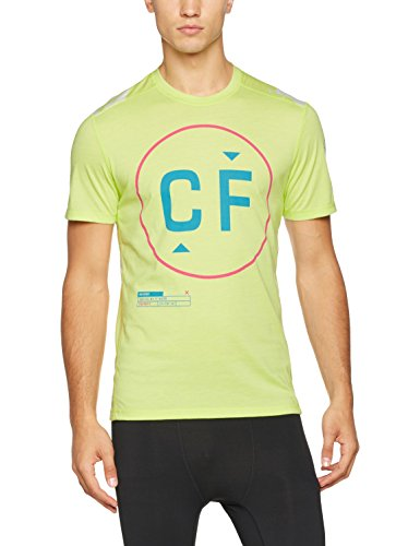 Reebok Herren Rcf Burnout Tee Shirt, Grün (Kiwgrn), M (Tee Burnout Herren)
