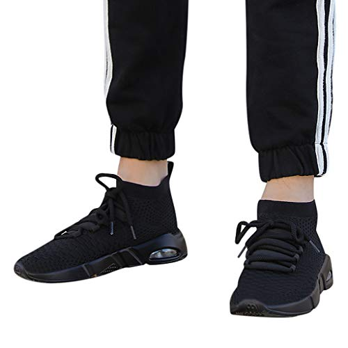 TianWlio Sportschuhe Herren Sneaker Outdoorschuhe Herren Mode Lässig Schnüren Gestrickte Sport Leichte Laufschuhe Turnschuhe Schwarz Rot Weiß Grau 39-46